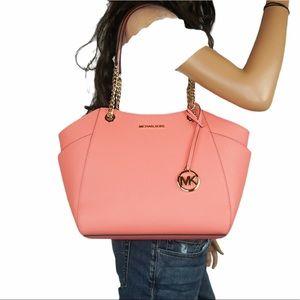 Michael Kors JST Chain Tote Bag Grapefruit Pink